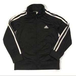 Adidas Youth Size 6 Zip-Up Track Suit Jacket Black